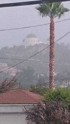 Griffith Observatory seen through the smog
