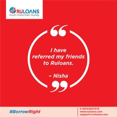 "Our client Nisha says, ""I couldn't be happier with the service we've received from you and your staff. We've referred our friends to RuLoans for their refinance."" Thanks, Nisha. We are happy to help you ‪#‎BorrowRight‬"
