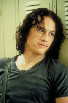 Heath Ledger. My favourite pic of him. This was him in 10 Things I Hate About You.