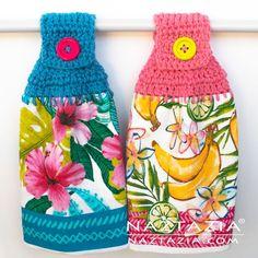 Ravelry: Hanging Kitchen Towel pattern by Naztazia Crochet Towel Tops, Crochet Dish Towels, Crochet Kitchen Towels, Crochet Dishcloths, Crochet Home, Crochet Gifts, Free Crochet, Kitchen Towels Hanging, Aran Weight Yarn