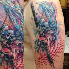 Tatuajes Acuarela - Marcus Lund - 7th Avenue Tattoo, Tampa, Florida