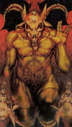 The Devil - Tarot of Reflections by Francesco Ciampi Satanic Art, Angel Warrior, Tarot Major Arcana, Dark Images, Occult Art, Arte Horror, Horror Art, Baphomet, Fantasy