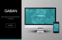 Free Single Page HTML Template. Gaban. http://omahpsd.com/demo/themes/gaban/