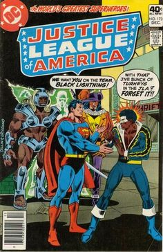 Justice League of America DC Comics December, 1979 BL knows when he is getting a bum rap. Dc Comics Superheroes, Dc Comics Characters, Marvel Dc Comics, Black Comics, Old Comics, Vintage Comics, Vintage Books, Dc Comic Books, Comic Book Covers