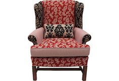 SOLD Vintage Upcycled  Boho Wing Back Chair by ChairyPicked, $1285.00