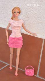 Dulces Ovillos: Vestido a crochet para Poppy Parker -Free pattern