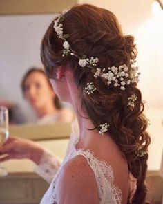Giant soft and whimsical braid hairstyle perfect for a relaxed boho bride