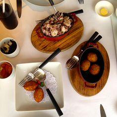 Great octopus salad and tapas style croquettes @ Fado Macau