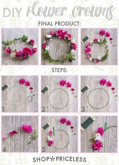 EASY DIY FLOWER CROWNS                                                                                                                                                     More (Diy Costume)
