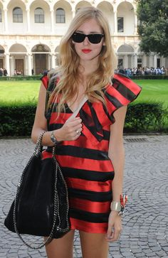 Chiara Ferragni - Missoni - Backstage And Front Row - Milan Fashion Week Womenswear Spring/Summer 2012