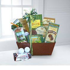 Green themed gift basket!