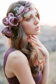 Silk flower crown // Rustic Lavender: Bridesmaid Dresses by Jenny Yoo Lilac Wedding, Mod Wedding, Wedding Flowers, Wedding Dress Shopping, Wedding Dresses, Lavender Bridesmaid Dresses, Floral Hair, Bridal Gowns, Bridal Shoot