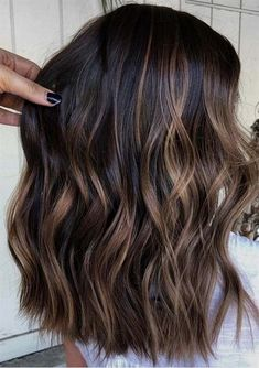 Are you going to balayage hair for the first time and know nothing about this technique? We've gathered everything you need to know about balayage, check! Ombre Hair Color For Brunettes, Brunette Color, Hair Color Dark, Cool Hair Color, Brown Hair Colors, Darkest Brown Hair Color, Hair Ideas For Brunettes, Ombre On Dark Hair, Hair Color Ideas For Dark Hair