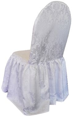 Jacquard Damask chair covers rental 718-744-8995 Chair Cover Rentals, Chair Ties, Spandex Chair Covers, Sash, Damask, Room, Furniture, Home Decor, Style