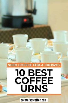 Are you making coffee for a crowd? Take a look at our guide to the best coffee urns for the office, community groups, family events and commercial caterers. We share the top commercial coffee urn options here | Extra large coffee maker | commercial coffee maker | How to make coffee for a crowd #coffeeurn 30 Cup Coffee Maker, Coffee Maker With Grinder, Best Coffee Grinder, Pour Over Coffee Maker, Coffee Maker Reviews, Ways To Make Coffee, Making Coffee, Best French Press Coffee, Commercial Coffee Makers