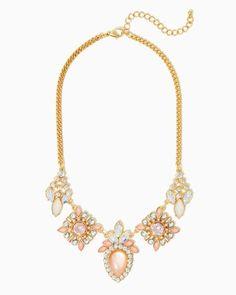 Clarissa Cluster Bib Necklace | Fashion Jewelry-Modern Romance | charming charlie