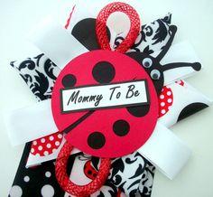Ladybug Baby Shower Corsage  Baby Girl  READY TO by CrazyCraftFrog #babyshowercorsage #ladybug