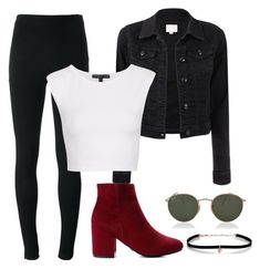 """Outfit for night ♥ / Look para noite ♥ / Look para ir ao shopping / Aria montgmery style / Lidya Martin style"" by camibg on Polyvore featuring Givenchy, Topshop, Carbon & Hyde and Ray-Ban"