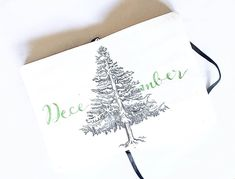 """39 Likes, 1 Comments - Newbie Bullet Journaler (@beccasbujo) on Instagram: """"My December cover page! . . . . #bujo #bulletjournal #journaling #planning #drawing #sketch #tree…"""""""