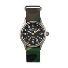 Orologio TIMEX SCOUT T49961CG Tessuto Camouflage Verde Militare Indiglo | eBay