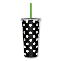 kate spade new york insulated tumbler - black dots