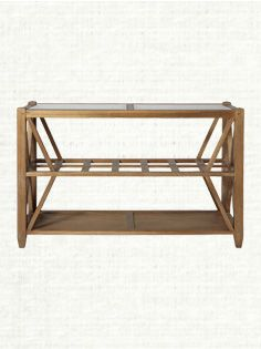 """Hyannis 50"""" Rectangle Console Table With Glass Top In Vintage"""