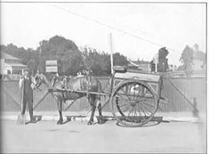 PH Street orderly boy with a Prahran City Council pony cart. Old Photos, Vintage Photos, Garbage Collection, Melbourne Suburbs, Broken Promises, Melbourne Victoria, City Council, Cart, Pony