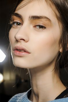 Marine Deleeuw backstage at Victoria Beckham Fall 2013 RTW