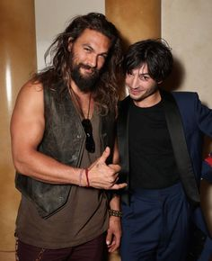 "dcfilms: ""Jason Momoa and Ezra Miller at CinemaCon, March 29, 2017 in Las Vegas"