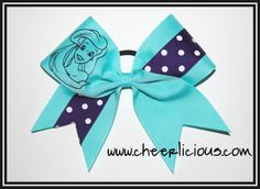 $12 Mermaid Princess Cheer Bow Available on www.cheerlicious.com Disney Cheer Bows, Cheerleading Cheers, Mermaid Princess, Disney Trips, Destiny, Ideas, Thoughts, Disney Travel