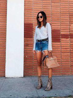 Como ser chic de short jeans » STEAL THE LOOK
