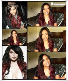 Red ombre hair for fall