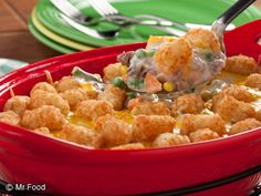 This tater tot casserole is one of our favorites! With a combination like meat and potatoes, what's not to love? Try it out for dinner tonight.