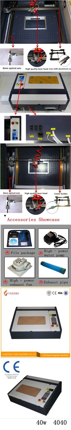 Free shipping 110/220V 40W 400*400mm CO2 Laser Engraver Cutter Engraving Machine 4040 Laser Cutting Machine with USB Sport