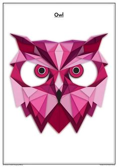 Geometric animals by Massimo Berti, via Behance: Geometric Owl, Geometric Drawing, Geometric Painting, Polygon Art, Owl Art, String Art, Art Drawings, Artwork, Prints