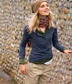 I have some khaki cargo pants and I never know what to pair with them - this is it! Pinned on the Adventurist Insights Travel Fashion Board. www.survivalaudiobooks.com