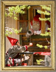 Santa Claus Office in summer time Rovaniemi Finland Santa Claus Village, Lapland Finland, Arctic Circle, Time Travel, Summer Time, Reindeer, Boss, Spaces, Reading
