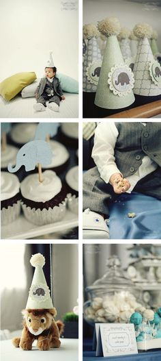 boy baby shower - love the subtle elephant theme, ties to Bama but doesnt SCREAM crimson tide