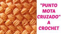 Punto  mota cruzado crochet