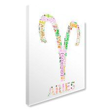 Aries Text Montage Canvas