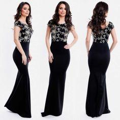 Rochie de seara lunga neagra cu corset dantelat Bridesmaid Dresses, Prom Dresses, Formal Dresses, Wedding Dresses, Casual, Corset, Fashion, Tulle, Bridesmade Dresses