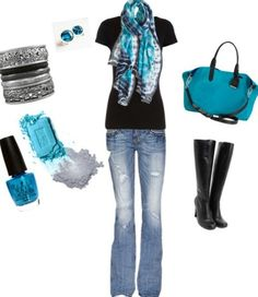 Black and Teal Combined Together Is Beautiful! ~