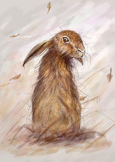 David Neaves   DIGITAL ART   Wind Swept Hare