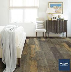 Add a rustic mood to your home with durability you can trust—like vinyl flooring! nn#vinylfloors #vinylflooring #interiordesign