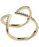 Michael Kors Open Arrow Clear Pavé Ring