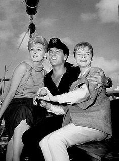 "Elvis Presley, Stella Stevens, and Laurel Goodwin in ""Girls! Girls! Girls!"" Paramount, 1962."