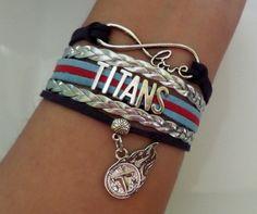TITANS Bracelet Titans Football bracelet Titans by SummerWishes