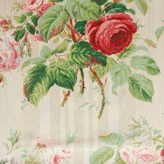 Classic Prints Fabric Collection by Colefax & Fowler is a beautiful range of floral linen and cotton prints, suited to any interior - from the classic count Bright Curtains, Chintz Fabric, Shabby Chic Interiors, Dressing Rooms, Passementerie, Floral Fabric, Red Green, Printing On Fabric, Decorating Ideas