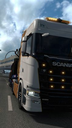 Scania truck in Euro Truck Simulator 2 World Book Encyclopedia, Mit License, Gaming Wallpapers, Simulation Games, 4x4 Trucks, Peugeot, Euro, Vehicles, Games