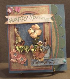 Happy Spring (by Theresa Harrison) uses Graphic 45's Once Upon a Springtime collection
